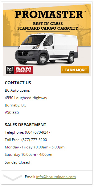 bad credit car loans burnaby