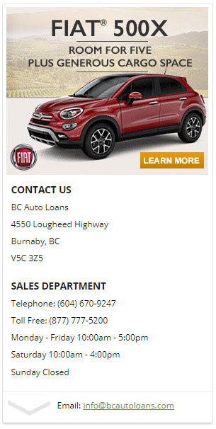 best car loans burnaby