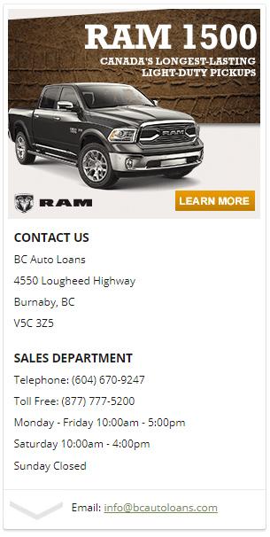 car finance loan burnaby